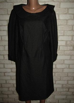 Стройнящее красивое платье р-р 14-16 сост нового