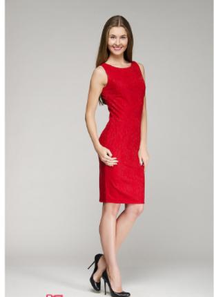 Брендовое красное нарядное миди платье woolworths южная африка этикетка