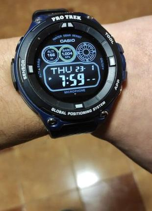 Потужний туристичний спортивний смарт годинник casio pro trek wsd-f20a-bu