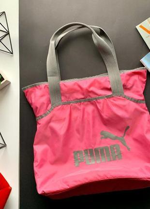 👜чудесная спортивная розовая сумка puma оригинал/розовая с серым спортивная сумка👜