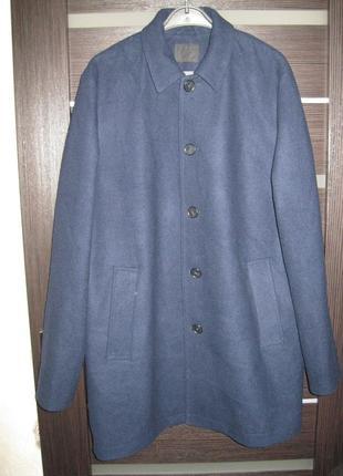 Мужское пальто / полупальто / темно-синее / asos / р.l