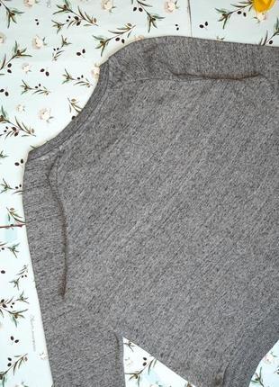 🎁1+1=3 фирменный модный серый свитер лонгслив оверсайз superdry, размер 46 - 488 фото