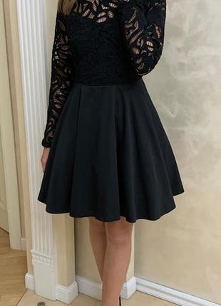 Черное платье пышное vanessa scott оригинал нарядное вечернее выпускное бебби долл