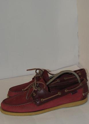Sebago docksides кожаные качественные мужские туфли-топсайдери b46