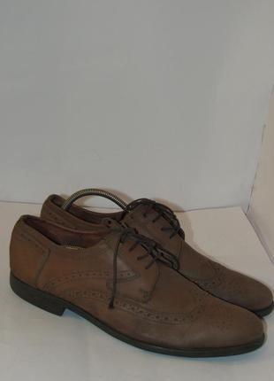Bugatti качественные стильные мужские туфли оксфорды b46