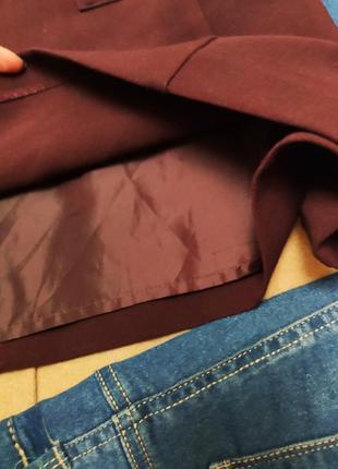 Бордовое бордо марсала классическое прямое платье на подкладке с карманами f&f4 фото