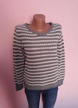 Джемпер свитер gap в полоску. размер м