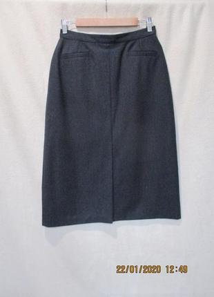 Шерстяная юбка миди/юбка теплая классика
