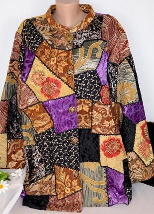 Пальто пиджак indigo moon индия вискоза шёлк большой размер цветы этикетка