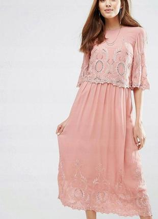 Вечернее платье asos с вышивкой и бусинами