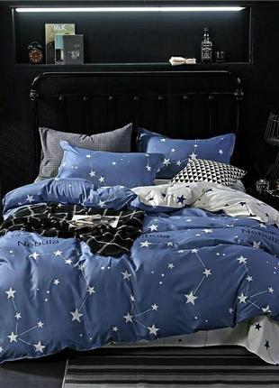 Хлопковое постельное белье со звездами и созвездиями, комбинированные