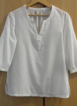 Супер брендовая блуза блузка рубашка хлопок вышивка