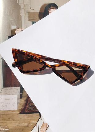 Солнцезащитные имиджевые леопардовые очки