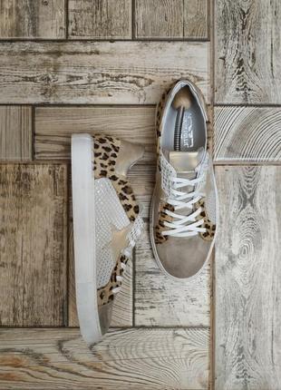 Divine follie, кожаные, замшевые ботинки, туфли, кроссовки в анималистический принт