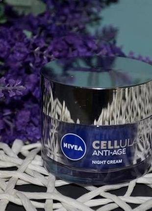 Cellular anti-age night cream nivea антивозрастной ночной крем