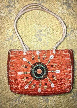 Пляжная соломенная сумка carpisa