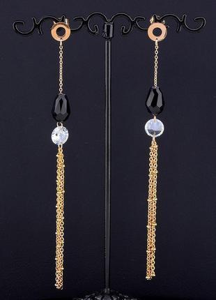 Серьги 'fashion' сrystal (позолота 18к) 0571160