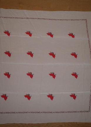 Большой платок шаль шёлк креп де шин lacristalide 105х100см шов роуль италия