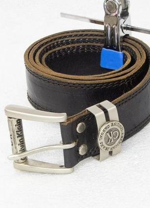 Ремень мужской кожаный calvin klein  размер s-xs вся длина 102, на талию 73-80, ширина 3.3