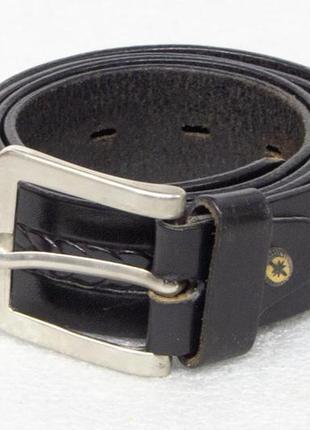 Ремень мужской кожаный размер l-xl вся длина 117, на талию 87-100, ширина 3,3