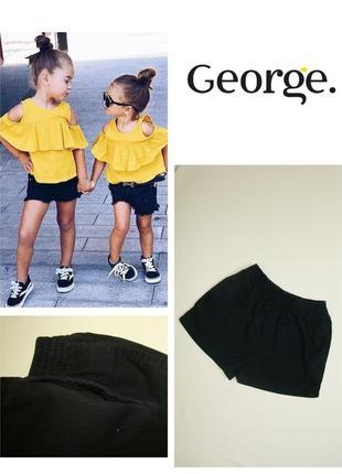 Базовые черные шорты george 4-6 лет