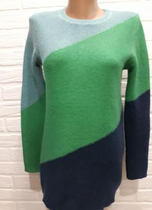 Удлинённый шерстяной свитер туника р.м
