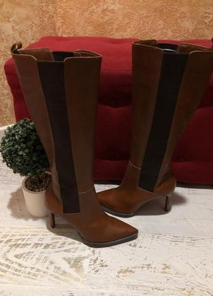 Високі чоботи із натуральної шкіри,від san marina