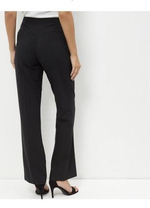 Прямые классические брюки высокая посадка, с застежкой сбоку