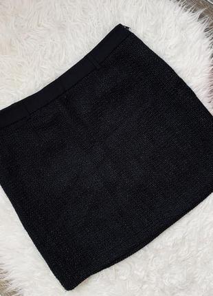 Стильная твидовая юбка мини