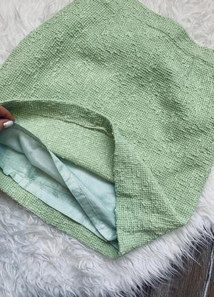 Твидовая юбка мини3 фото