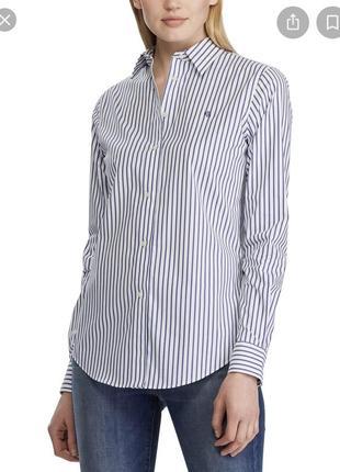 Крутая брендовая рубашка в полоску ralph lauren {оригинал}