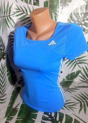 Распродажа оригинал adidas спортивная футболка аквамарин