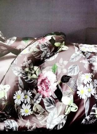 Комплект постельного белья фланель розы, всі розміри, комплекти постільної білизни
