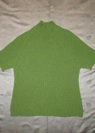 Ангоровая шерстяная кофта marks & spencer свитер под горло водолазка англия