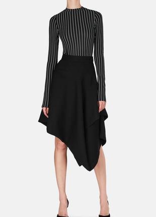 Roccobarocco италия брендовая ассиметричная полу шерстяная юбка#спідниця#годе, 46% шерсть.