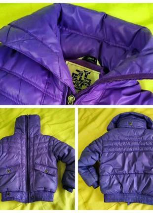 Весенняя детская куртка фиолетового цвета
