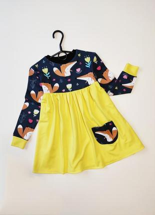 Платье лисичка от mellowkids
