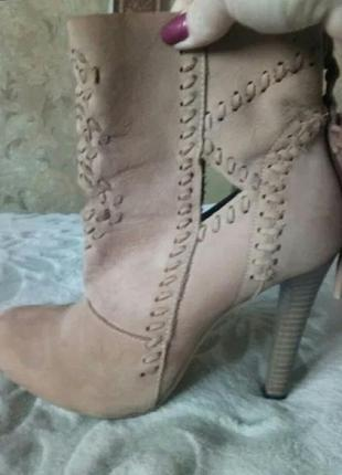 Ботинки замшевые3 фото