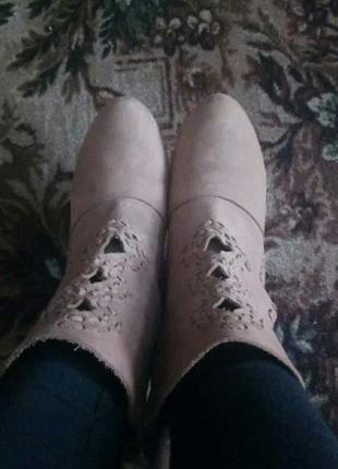 Ботинки замшевые7 фото