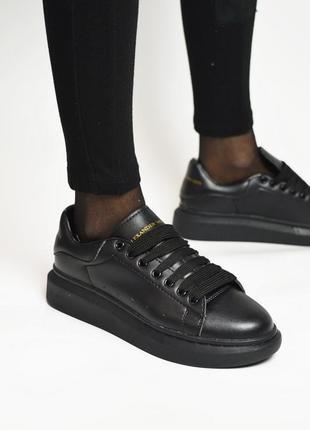 Женские кроссовки alexander mcqueen black кеды