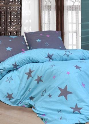Двуспальный комплект постельного белья с простынью на резинке