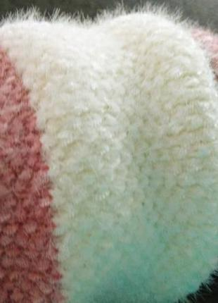 Женский свитер в широкую полоску4 фото