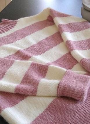 Женский свитер в широкую полоску2 фото