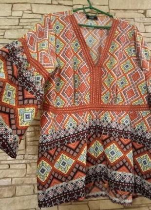 Скидка!блуза в стиле бохо,большой размер