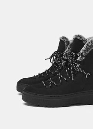 Зимние ботинки полусапожки zara