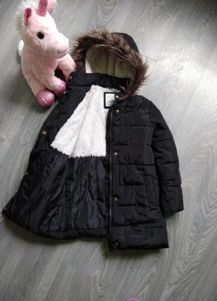 7-8л зимняя термо парка куртка m&s