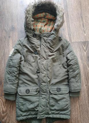 Куртка, парка хаки 6 лет, осень, зима