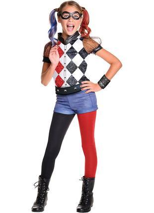 Карнавальный костюм харли квинн dc superhero girl's harley quinn