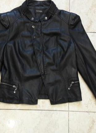 Куртка кожанка косуха байкерская дублёнка