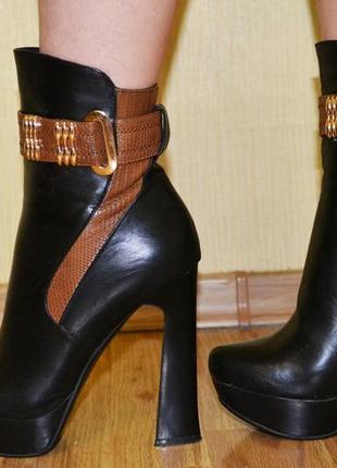 Демисезонные осенние – весенние черные ботинки  сапоги размер 37